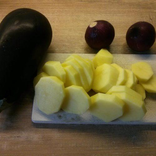 baklazan i ziemniaki